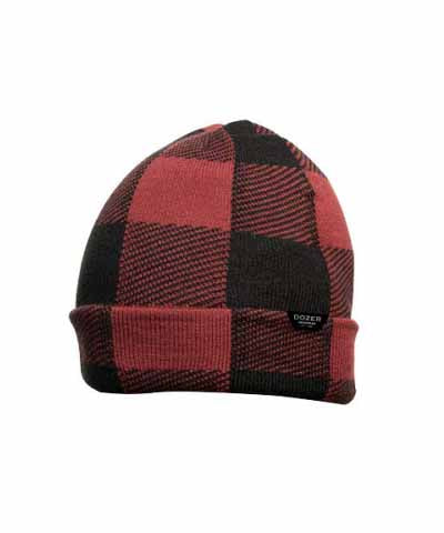 Bale Beanie - Red Buffalo Check