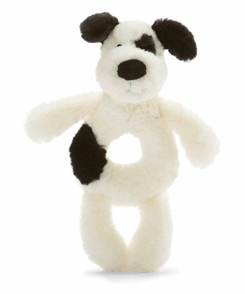 Black & Cream Puppy Rattle