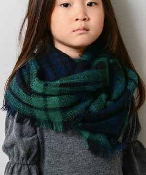 Kids Scarf - Green/Blue
