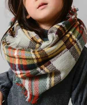 Kids Scarf - Grey/Mustard