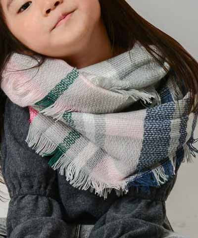 Kids Scarf - Light Pink