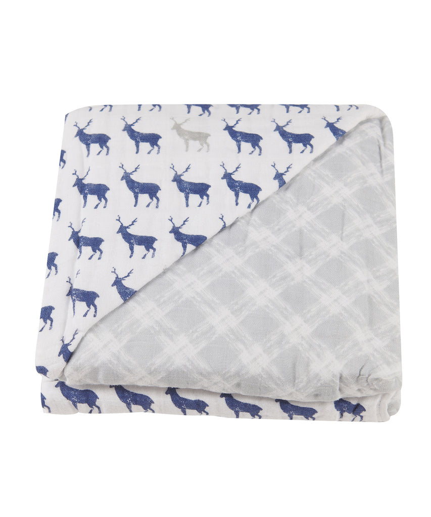 Newcastle Blanket - Blue Deer & Glacier Grey Plaid