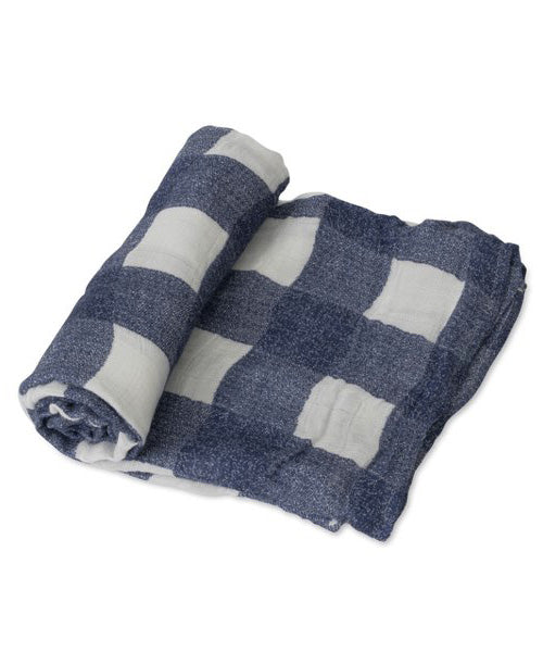 Deluxe Swaddle - Blue Plaid