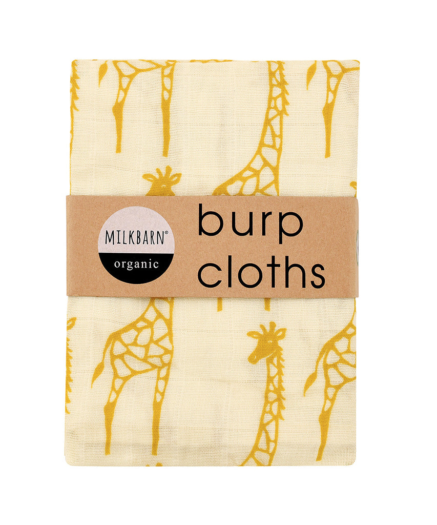 Cotton Burpies - Yellow Giraffe