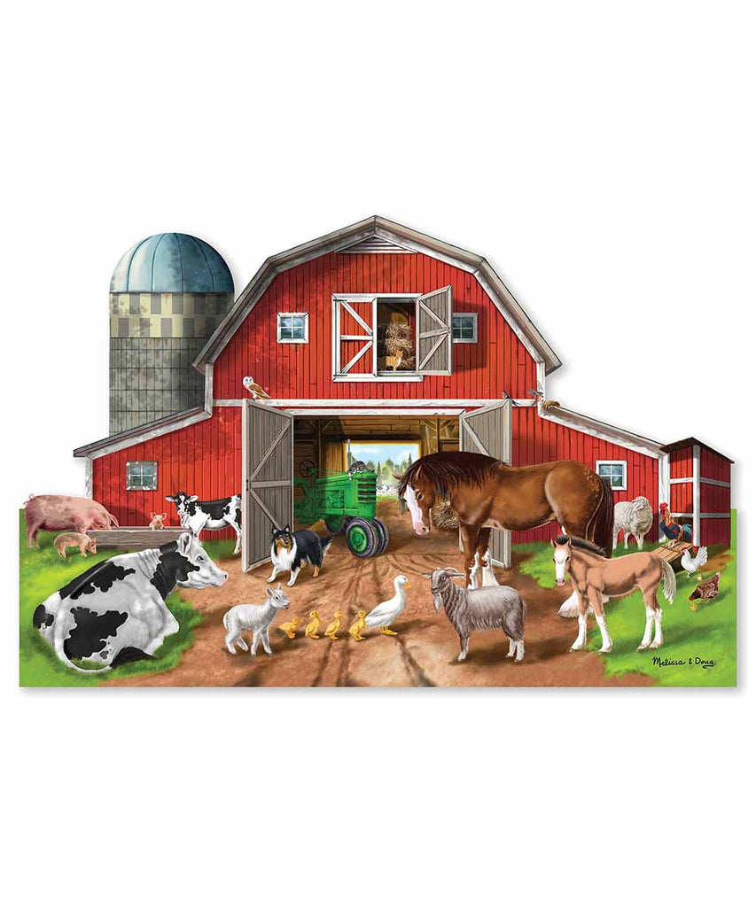 Busy Barn Shaped Floor Puzzle (32 pc)