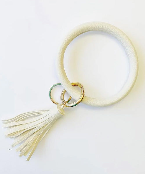 Keychain Bangle - Cream