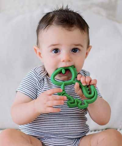 Silicone Baby Teether - Dino