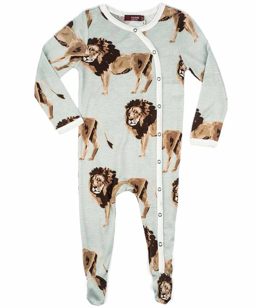 Blue Moose Milkbarn Bamboo Long Sleeve Footed Romper