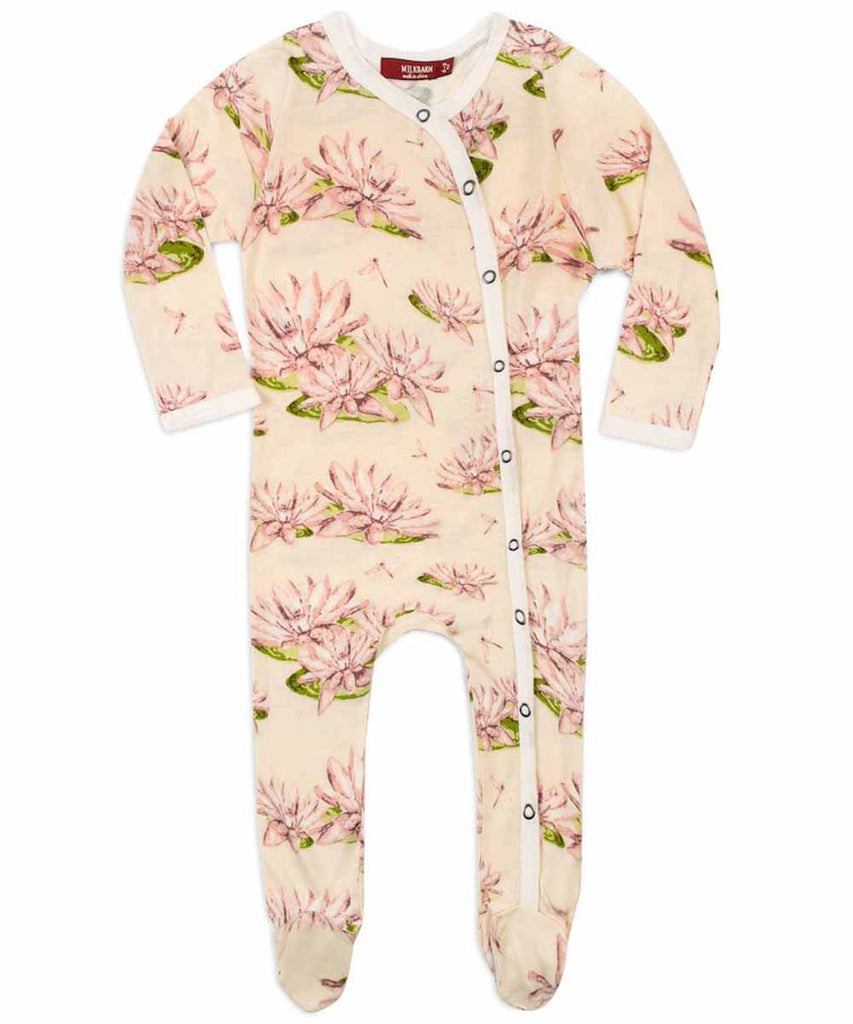 Footed Romper - Water Lilly