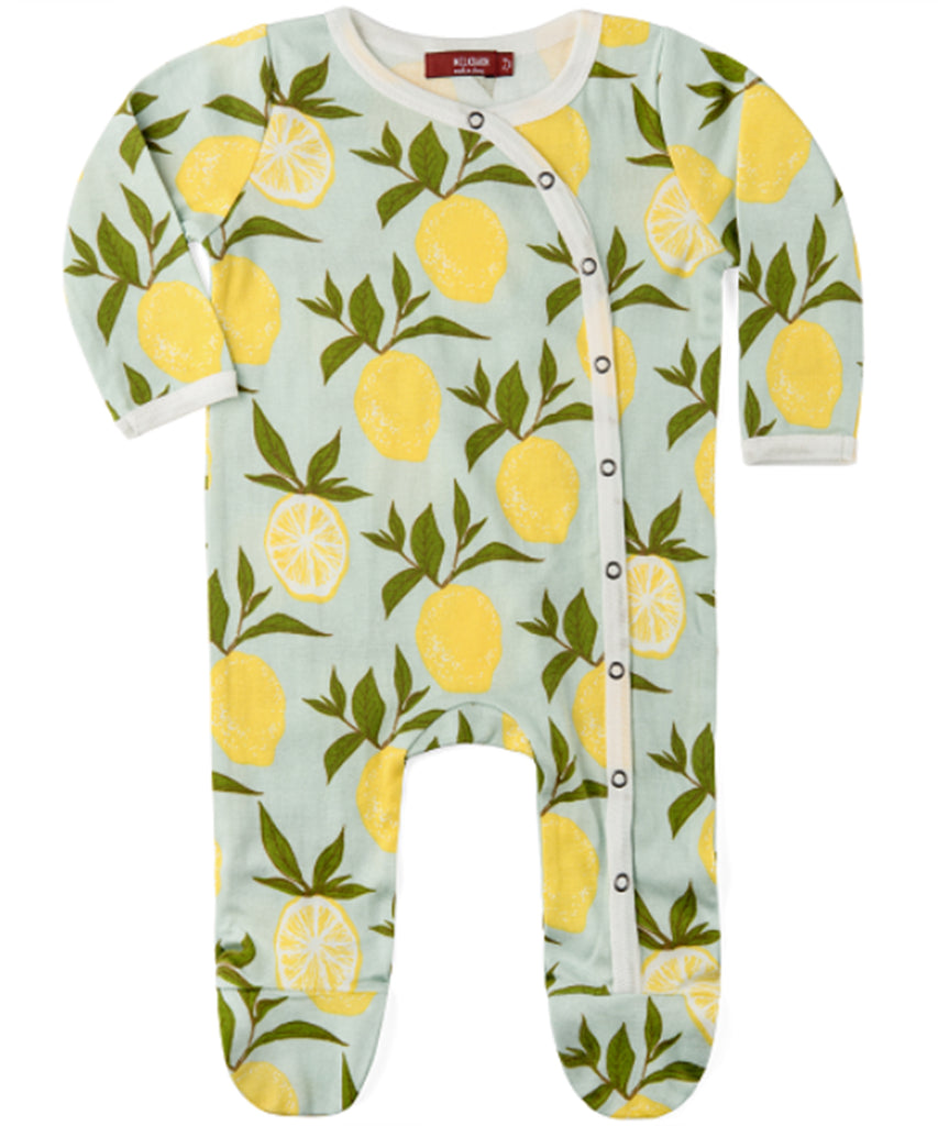 Footed Romper - Lemon