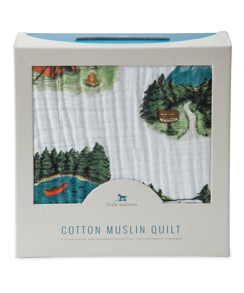 Cotton Quilt - Happy Camper