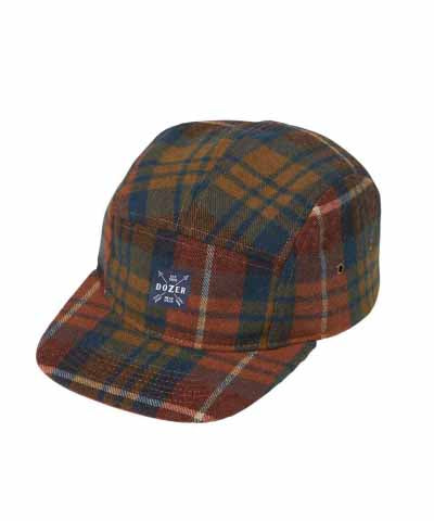 Hayden 5 Pannel Cap - Orange