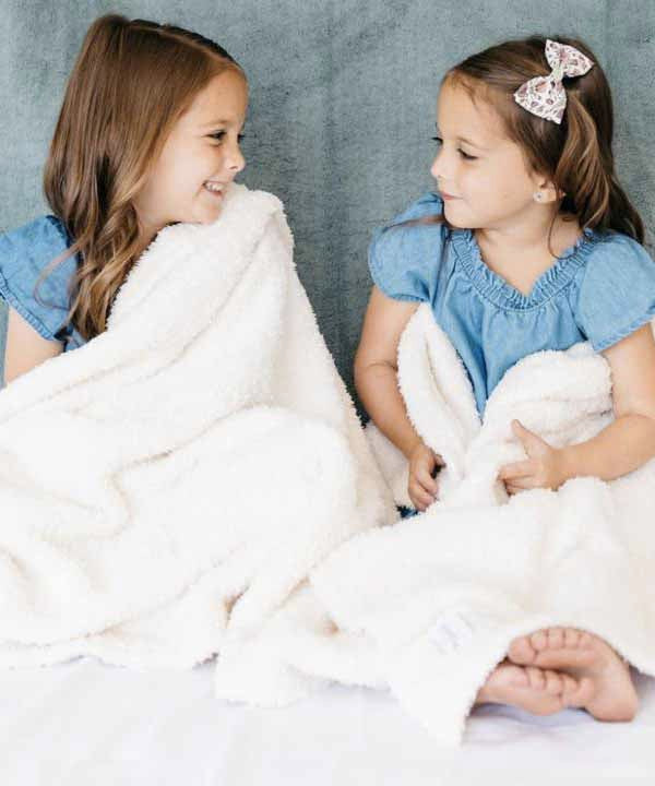 Bamboni Toddler to Teen Blanket - Ivory