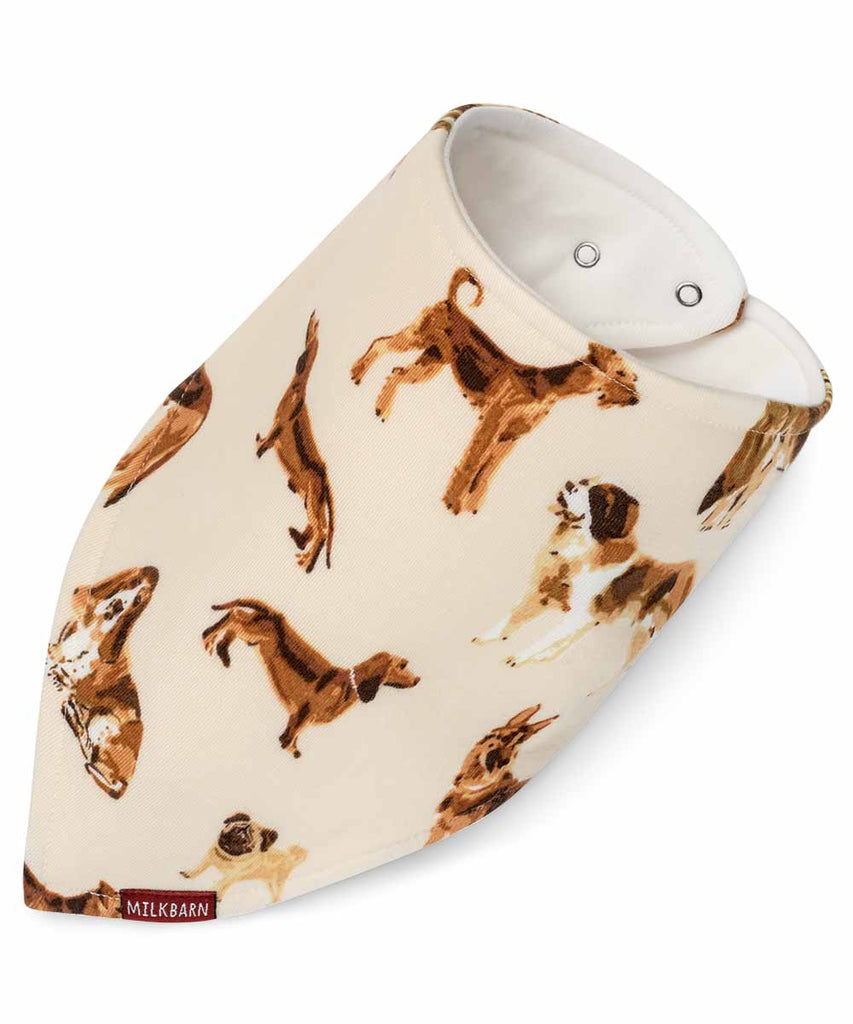 Kerchief Bib - Natural Dog
