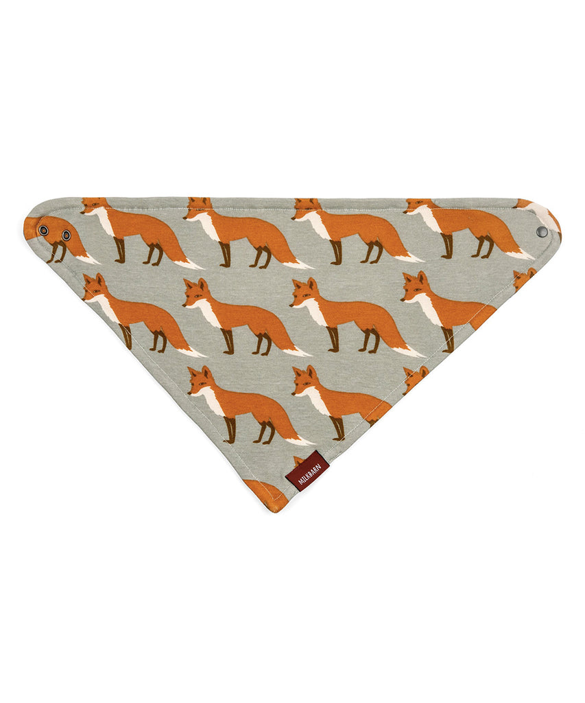Kerchief Bib - Orange Fox