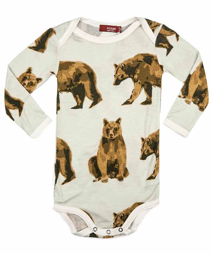 Long Sleeve Onesie - Bear
