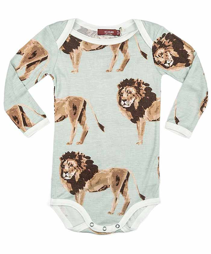 Long Sleeve Onesie - Lion