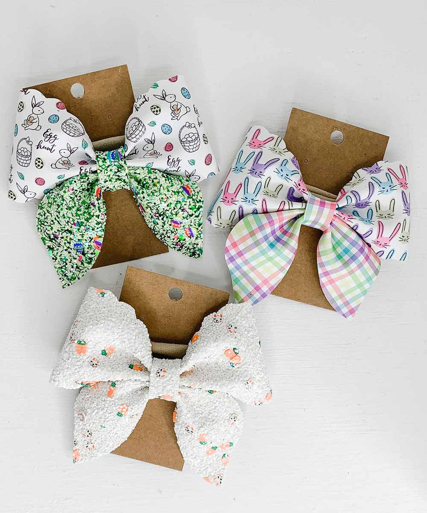 Vegan Leather Sailor Bow - Easter