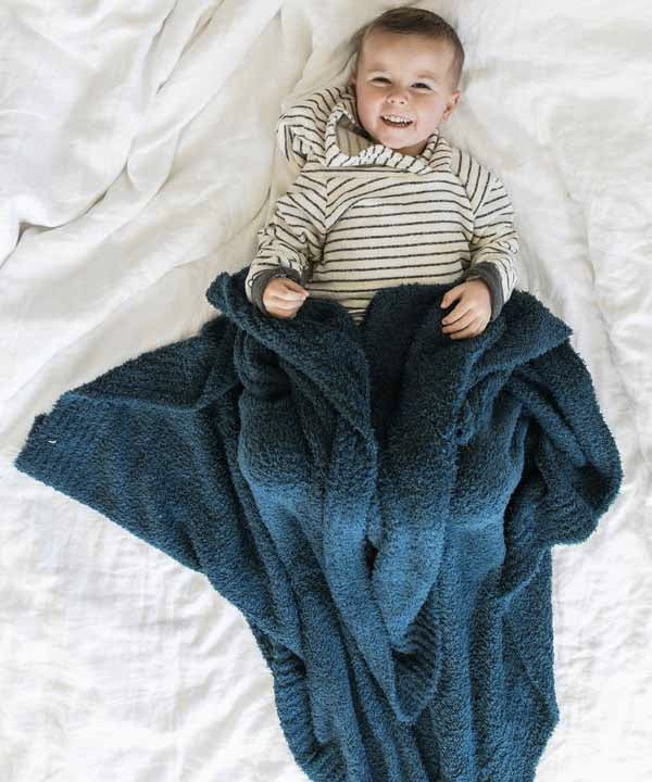 Bamboni Toddler to Teen Blanket - Nautical Blue