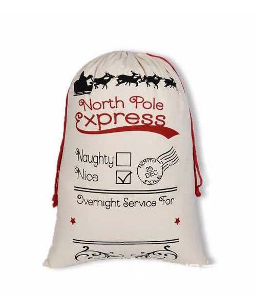 North Pole Express Christmas Bag