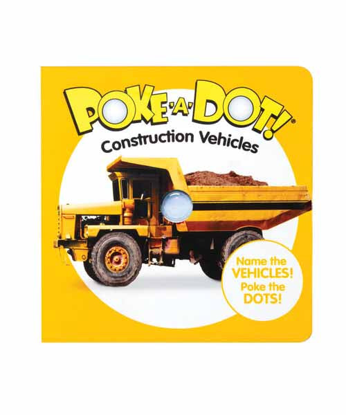 Poke-A-Dot Book: Construction Vehicles