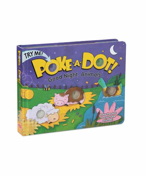 Poke-A-Dot Book: Goodnight Animals