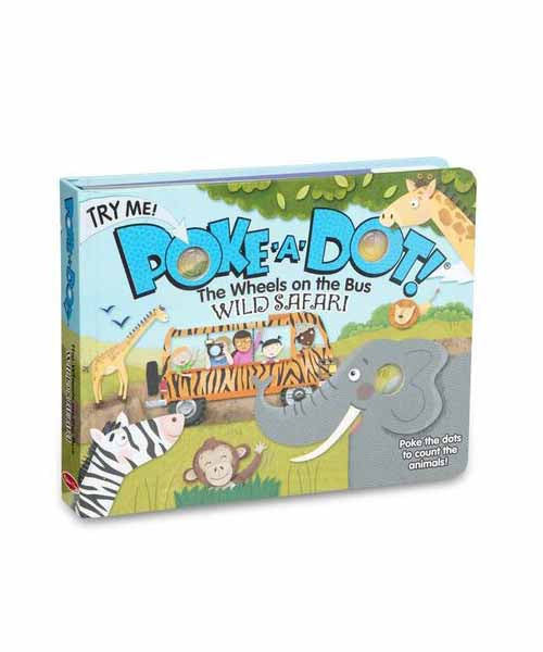 Poke-A-Dot Book: Wheels on the Bus Wild Safari