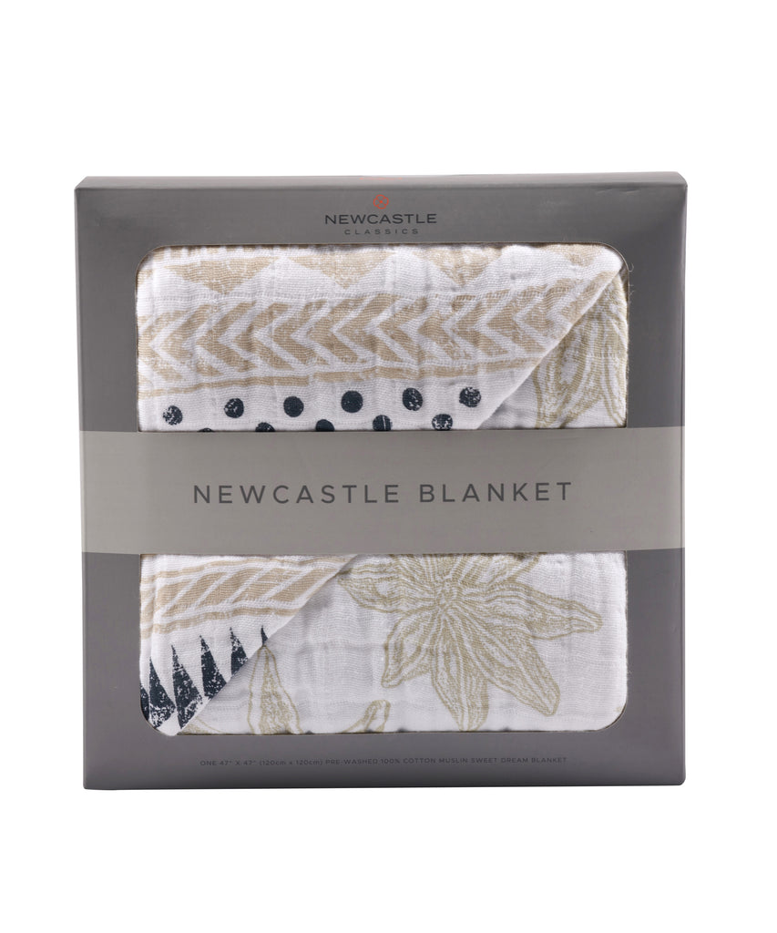 Newcastle Blanket - Pyramid Print & Star Anise