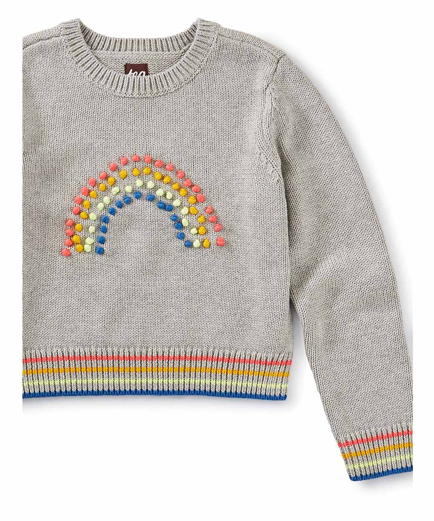 Rainbow Pom Pom Sweater