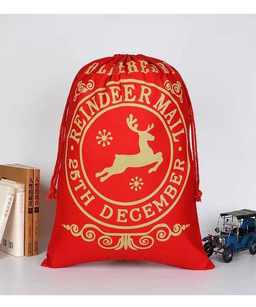 Red Reindeer Christmas Bag