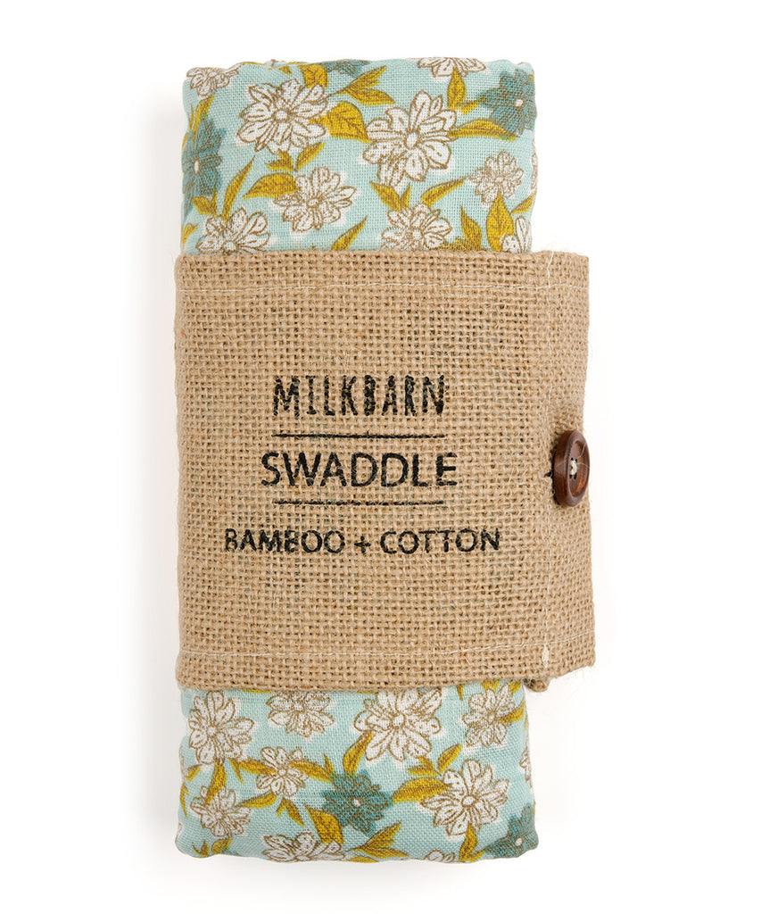 Bamboo Swaddle - Blue Floral