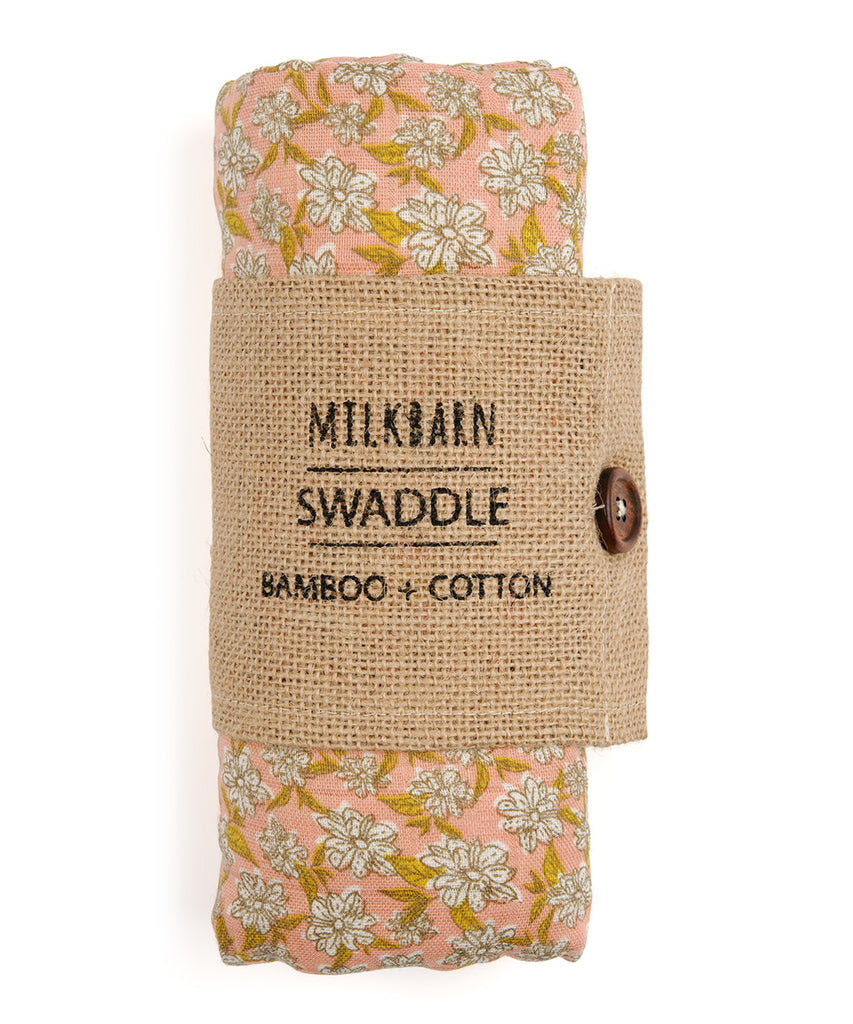 Bamboo Swaddle - Rose Floral