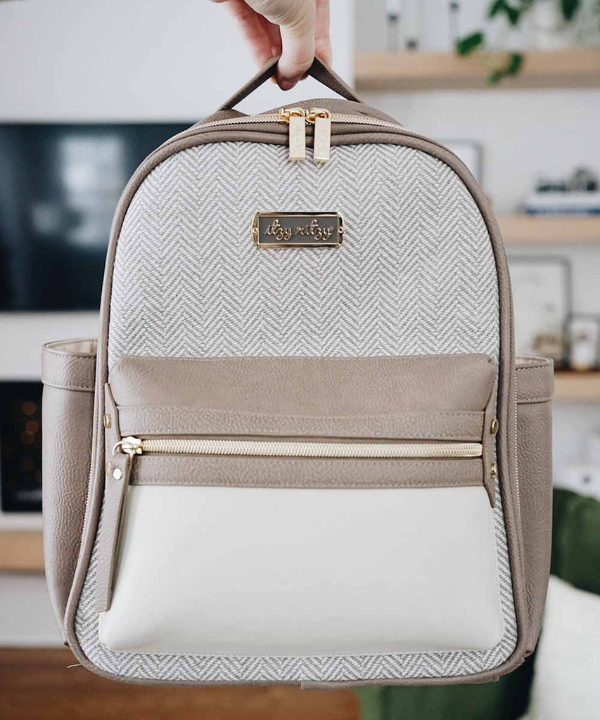 Itzy Mini Backpack Diaper Bag - Vanilla Latte