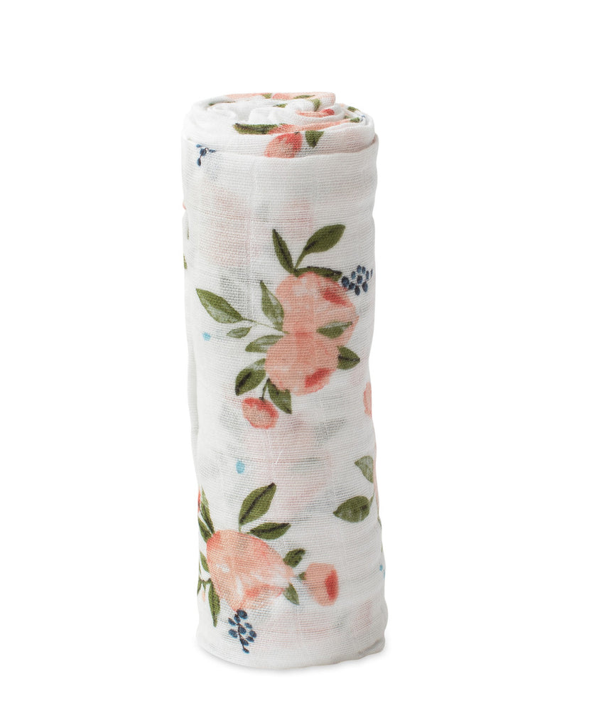 Cotton Swaddle - Watercolor Roses