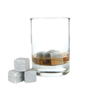 Glacier Rocks: Set of 6 Soapstone Cubes - Wine Craft