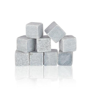 Glacier Rocks®: Set of 9 Soapstone Cubes - Wine Craft