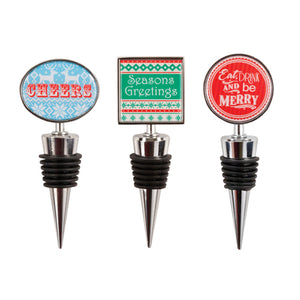 Yuletide: Holiday Bottle Stopper - Wine Craft