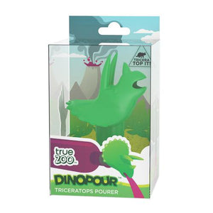Dinopour™ Triceratops Pourer in Green - Wine Craft