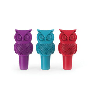 Hoot Owl Bottle Stopper in Assorted Colors - Wine Craft