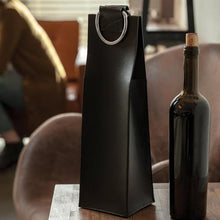 Admiral™ Faux Leather Black Wine Tote