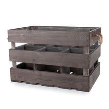 Rustic Farmhouse™ Wooden 6 Bottle Crate