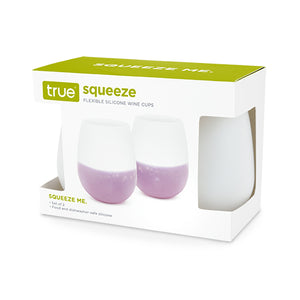 Squeeze Set of 2 Flexible Silicone Wine Cups - Wine Craft