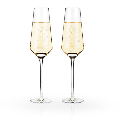 Raye Crystal Champagne Flutes (Set of 2) - Wine Craft