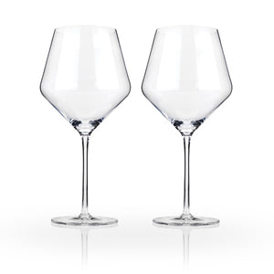 Raye Crystal Burgundy Glasses (Set of 2)