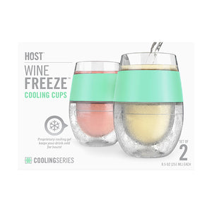Wine FREEZE™ Cooling Cups in Mint (set of 2) - Wine Craft