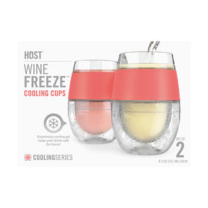 Wine FREEZE™ Cooling Cups in Coral (set of 2)