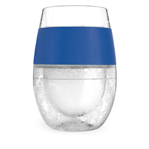 Wine FREEZE™ Cooling Cups in Blue (set of 2)