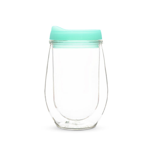 Traveler Double Walled Wine Tumbler in Mint
