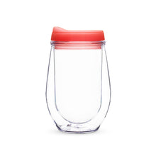 Traveler Double Walled Wine Tumbler in Peach