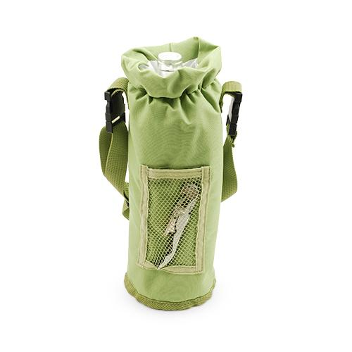 Grab & Go Insulated Bottle Carrier in Green - Wine Craft